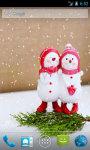 Two Snowmen Live Wallpaper screenshot 1/4