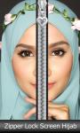 Zipper Lock Screen Hijab screenshot 1/6