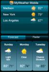 MyWeather Mobile screenshot 1/1