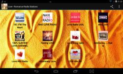 Love - Romance Radio Stations screenshot 1/4