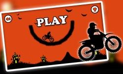 Free Moto Racer Halloween Town screenshot 1/6