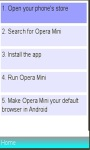 How Install Operamini on your mobile device screenshot 1/1