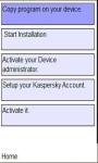 Kaspersky security on mobile screenshot 1/1