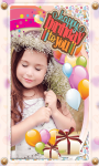 Birthday photo maker efact screenshot 1/4