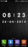Metal Digital Clock screenshot 2/5