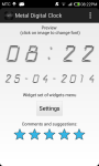 Metal Digital Clock screenshot 4/5