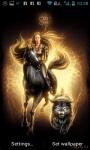 Girl on Black Horse Live Wallpaper screenshot 1/4