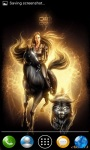 Girl on Black Horse Live Wallpaper screenshot 3/4