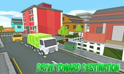 Blocky Garbage Transport Truck screenshot 2/4