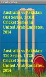Cricket Schedule 2014-15 screenshot 3/4