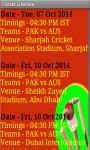 Cricket Schedule 2014-15 screenshot 4/4