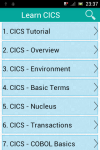 Learn CICS screenshot 1/3