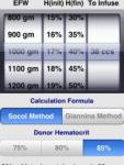 Fetal IV Transfusion Calculator screenshot 1/1