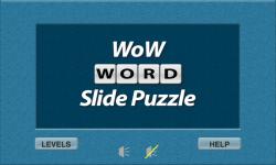 WoW Word Slide Puzzle Free screenshot 1/2