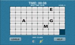 WoW Word Slide Puzzle Free screenshot 2/2