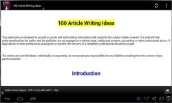 100 Best Article Writing Ideas screenshot 2/3