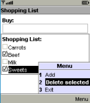 Shopping List V1.01 screenshot 1/1