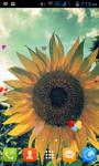 Sunflower Field Live Wallpaper Free screenshot 1/5
