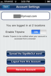 SignMeOut Lite for iPhone screenshot 2/3