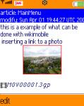 WIKIMOBILE V1.01 screenshot 1/1