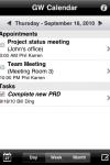 GW Calendar screenshot 1/1