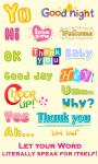 WordArt Chat Sticker M Free screenshot 1/4