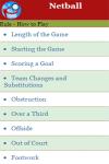 Rules to play Netball screenshot 2/3