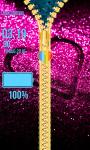 Zipper Lock Screen Glitter screenshot 5/6