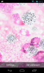Pink Diamonds Live Wallpaper free screenshot 3/6
