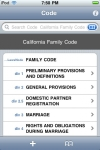 California Family Code (CA Law) screenshot 1/1