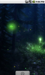 Cool Firefly Forest Live Wallpaper screenshot 2/4
