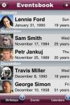 Eventsbook Lite screenshot 1/1