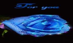 Blue Shining Rose Live Wallpaper screenshot 2/3