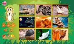 Puzzles: wild animals screenshot 2/6