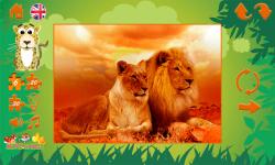 Puzzles: wild animals screenshot 4/6