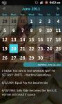 The official Lesbian Calendar screenshot 2/3