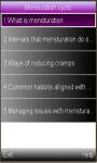 menstrual cycle monitor screenshot 1/1