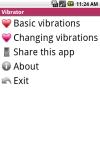Android VIBRATOR screenshot 1/6
