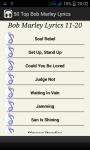 Top Bob Marley Song Lyrics screenshot 3/5