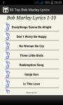Top Bob Marley Song Lyrics screenshot 4/5