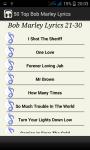 Top Bob Marley Song Lyrics screenshot 5/5