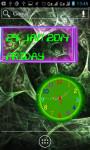 Neon Analog Clock Live Wallpaper screenshot 1/5