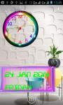 Neon Analog Clock Live Wallpaper screenshot 2/5