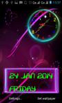 Neon Analog Clock Live Wallpaper screenshot 3/5