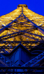 Eiffel Tower Blue and Yellow Live Wallpaper screenshot 1/4