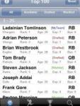 Fantasy Football Cheatsheet '08 screenshot 1/1
