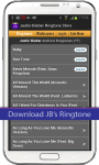 Justin Bieber Ringtone Store screenshot 1/4
