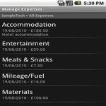 WorkIt Expenses Lite screenshot 2/2