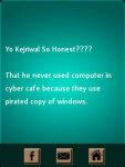 Kejriwal So Honest Funny Status screenshot 2/4