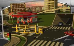 3D Car Transport Trailer  regular screenshot 1/6